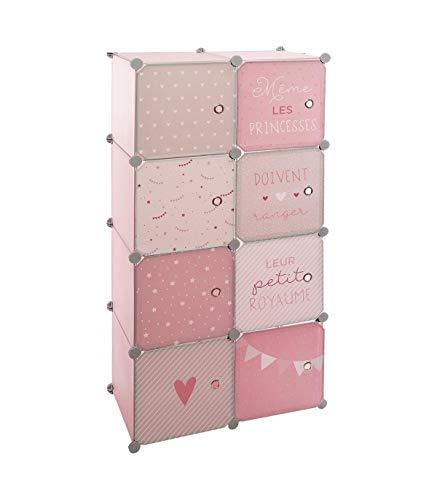 Atmosphera Kleiderschrank mit Stauraum und modularem Kleiderschrank für Kinderzimmer, Rosa, Höhe 124 cm