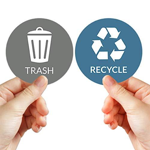 VBAP CORP Recycle Trash Bin Sticker - (Pack of 4) 3