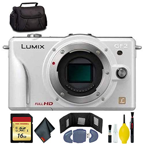 Learn More About Panasonic Lumix DMC-GF2 Digital Micro Four Thirds Camera Body(White) - 16GB Card - ...