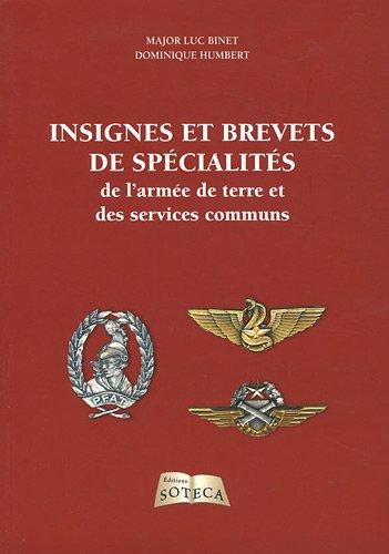 Insignes et brevets de spécialité de l'armée de terre et des services communs