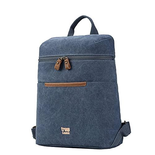 Troop London TRP0508 Rucksack aus Segeltuch, klassisch, klein, blau (Blau) - TRP0508 Blue
