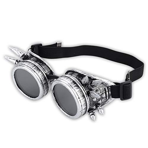 Hanbaili Gafas Steampunk con púas Retro Gafas Cosplay Cyberpunk Gótico Gafas de...