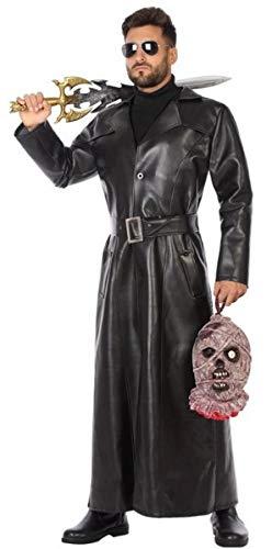Herren Halloween-Kostüm Vampirjäger, schwarzer Trenchcoat