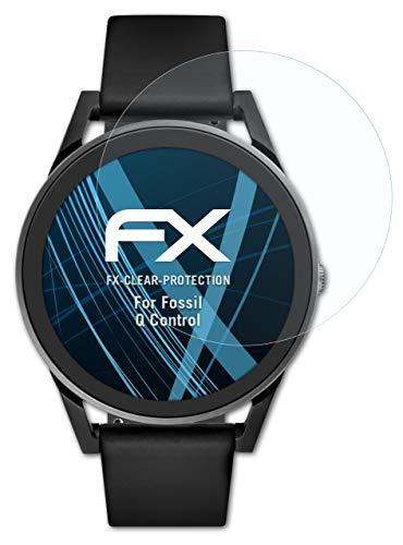 atFoliX Schutzfolie kompatibel mit Fossil Q Control Folie, ultraklare FX Bildschirmschutzfolie (3X)