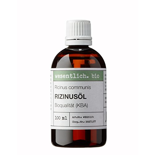 Rizinusöl BIO kaltgepresst 100ml von wesentlich - zur Pflege von Wimpern und Augenbrauen - Haut und Haar