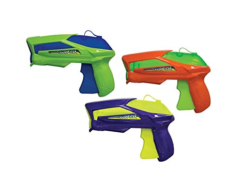 SwimWays Flood Force Stryker Water Gun - Long Distance Water Squirter - Water Pistol 3 Pack