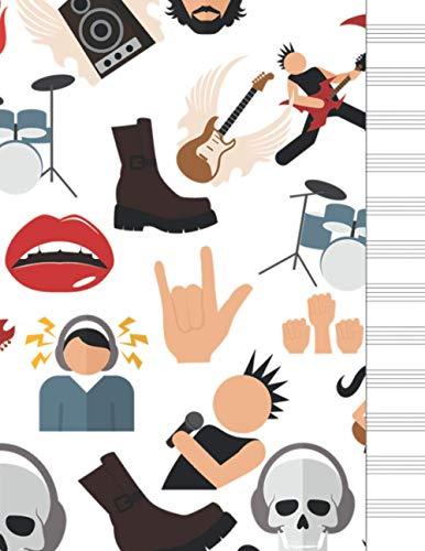 Cuaderno de música: papel pautado musica