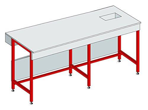 Equip Labo 374274 voetmat, met houders van polypropyleen, voor meubels en tablet, L 1200 mm - P 900 mm