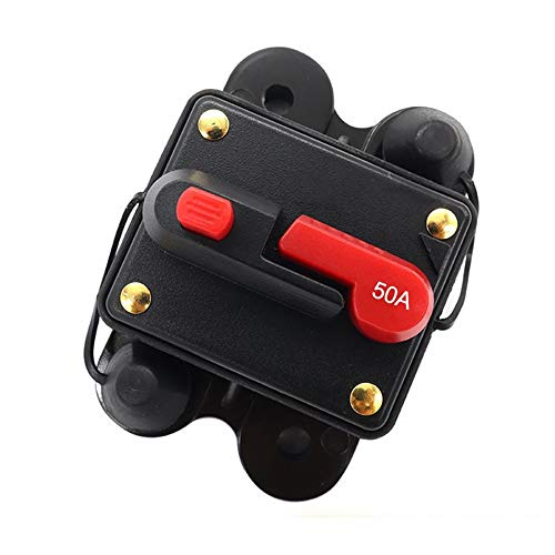 Interruptor 12 – 48 V DC, fusible de restablecimiento de interruptor 50 A/80 A/100 A/150 A/200 A/250 A/300 A con interruptor fusible regulable de coche impermeable de restablecimiento manual