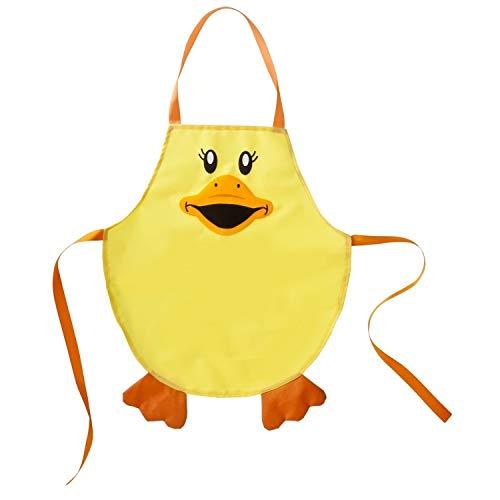 VIGAR Infantil Ducks, Sintético-Delantal Impermeable Perfecto para cocinar o par Jugar sin Riesgo de Que se estropee la Ropa, Amarillo