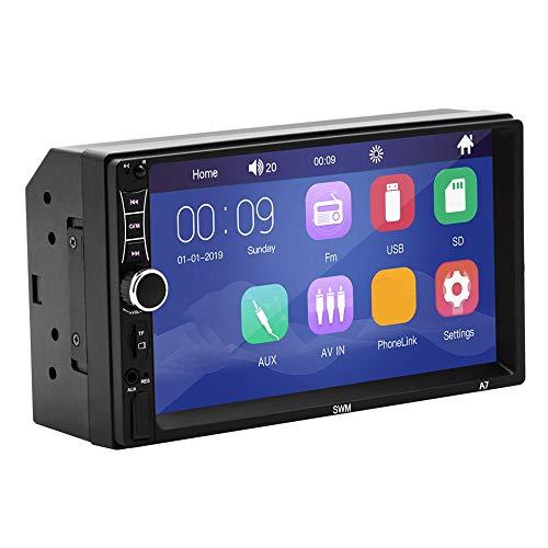 2 DIN Car Multimedia Player Navegación GPS con Mapa Pantalla táctil HD de 7 Pulgadas (Negro)