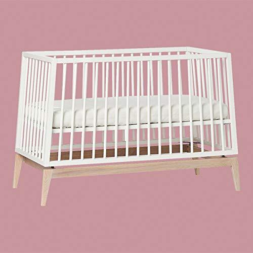 Leander Luna Babybett 120x60cm - weiß/Eiche OHNE MATRATZE