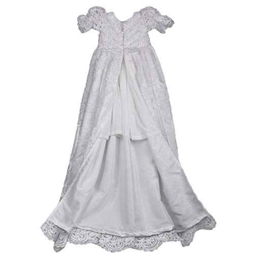 Candy Baby Lovely Lace Girls Christening Gowns Dresses 7-9 Months
