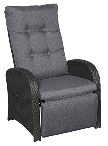 PKline 2X Garten Jorl Lounge Gartenstuhl Polyrattan Sessel verstellbar Stuhl Liegestuhl