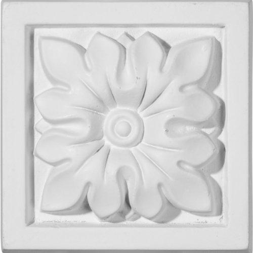 Ekena Millwork PB03X03FL 3 1/2-Inch W x 3 1/2-Inch H x 1 1/4-Inch P Floral Plinth Block