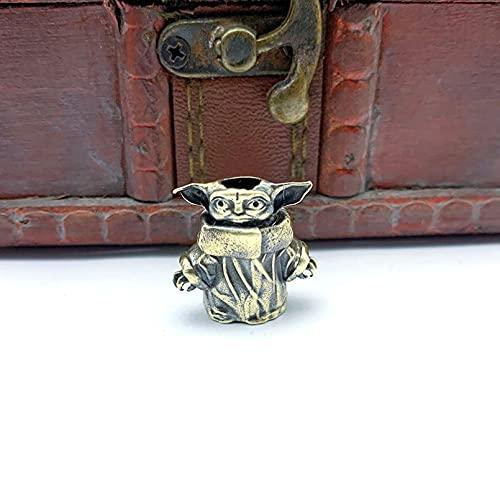 Drawihi Tools Brass Character Paracord Knife Bead Lanyard Pendants Car Key Rings Accessories Metal Charms Hangings