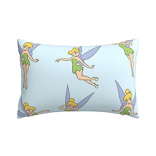 Funda de almohada con cremallera, diseño de Minnie de color negro