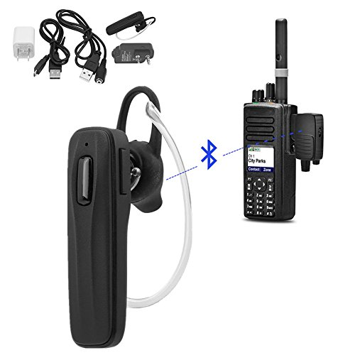 Yosoo- Wireless Bluetooth Headset Earphone with Adapter for All K1 Plug Walkie Talkie
