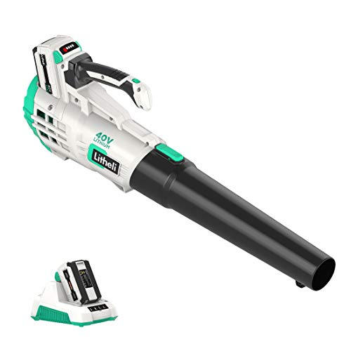 LiTHELi 40V Cordless Leaf Blower Lithium Battery Powered Electric Leaf Blowers Lightweight for Sweeping Snow & Leaf, 2.0Ah Battery and Charger Included