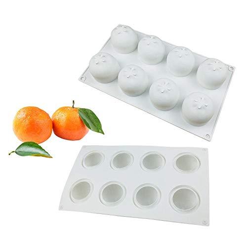 BGREN Moule à gâteau en Silicone Orange pour la Cuisson de la pâtisserie Moule à l'orange Mandarine Dessert Moule à Mousse aux Fruits ustensiles de Cuisson chocolats Moule-Une