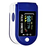 TCT (R-TM)OLED Digital Finger Pulse Oximeter Spo2H Blood Oxygen Monitor Arterial Saturation Monitor With Pulse Rate Monitor Heart Rate Monitor Medical Health Monitoring Device with Automatic Shutdown including batteries