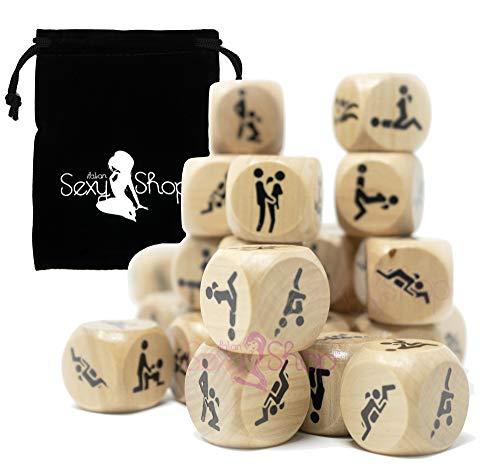Italian Sexy Shop® 2 o 4 Dadi da Gioco in Legno con Posizioni ✔ San Valentino ✔ Addio al Nubilato Celibato ✔ Idea Regalo Scherzo - 2X 4X (4 Dadi)
