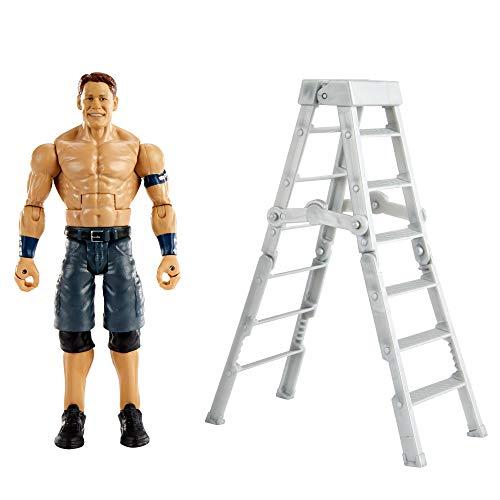 WWE Wrekkin John Cena destroza rivales, muñeco articulado de juguete con escalera y accesorios (Mattel GVJ30)