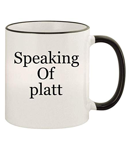 got platt? - 11oz Colored Rim and Handle Coffee Mug, Black