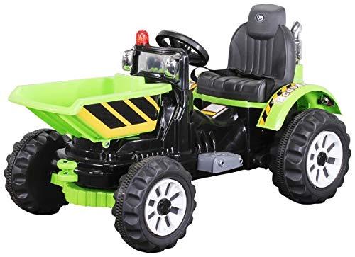 Actionbikes Motors Kinder Radlader JS328C 2 x 25 Watt Motor Elektro Lader Kinderauto Kinderfahrzeug Spielzeug für Kinder Kinderspielzeug (Grün)