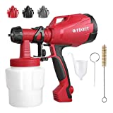HVLP Paint Sprayer, 500 Watt High Power Electric Spray Gun with Three Spray Patterns, Professional...