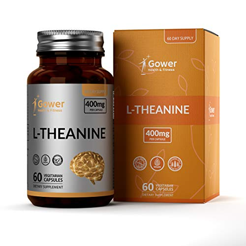 GH L Theanine 400mg High Strength Vegan Capsules | 60 Capsules Made from L-Theanine Powder | Clean Fillers, Gluten Free and Non GMO | Made in The USA in GMP Licensed Facilties