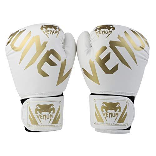 ZXJD Venom Boxhandschuhe Muay Thai Boxing Taekwondo Männer Und Frauen Fitness Training Spezial Boxhandschuhe,Weiß