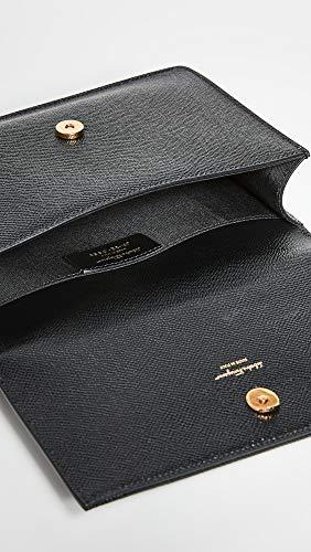 Salvatore Ferragamo Women's The Gancini Top Handle Bag, Nero, Black, One Size