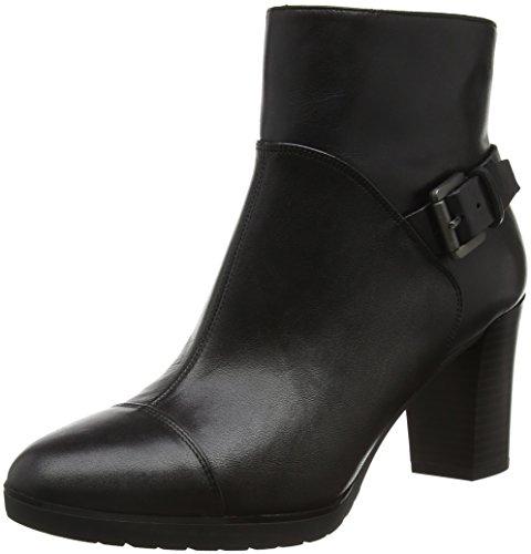 Geox Damen D RAPHAL MID A Kurzschaft Stiefel, Schwarz (BLACKC9999), 41 EU
