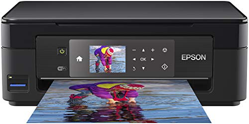 Epson Expression Home XP-452 3-in-1 Tintenstrahl-Multifunktionsgerät Drucker (Scanner, Kopierer, WiFi 6,8 cm Display, Einzelpatronen, 4 Farben, DIN A4, Amazon Dash Replenishment-fähig) schwarz