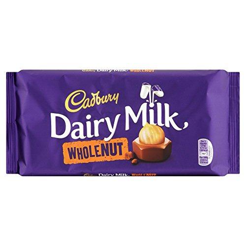 Cadbury Dairy Milk Whole Nut Chocolate Bar, 200 g