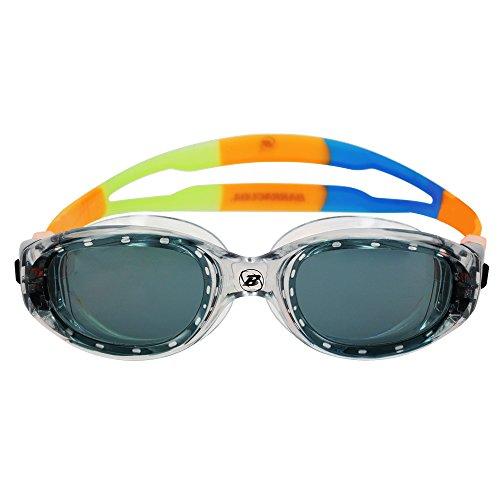 Barracuda Occhialini da Nuoto MANTA JR - Extra large, Triathlon, Acqua Libere, Protezione UV, Monoblocco, Antiappannamento, Impermeabile per Bambini Adolescenti dai 7 ai 15 Anni #14220 (grigio)