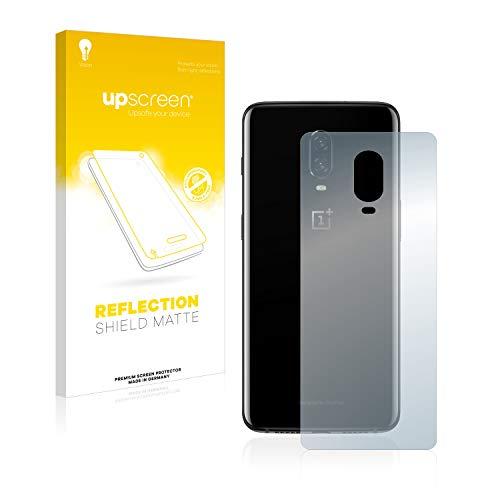 upscreen Entspiegelungs-Schutzfolie kompatibel mit OnePlus 6T / 6T McLaren (Rückseite) – Anti-Reflex Bildschirmschutz-Folie Matt