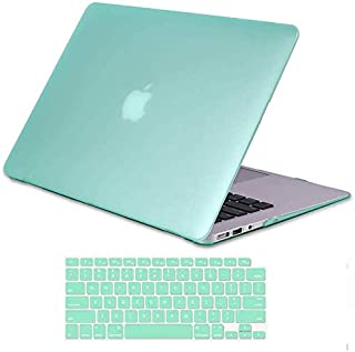 iCasso MacBook Air 13 Inch Case 2018 Release A1932 with Retina Display, Durable Rubber Coated Plastic Cover with Keyboard ...