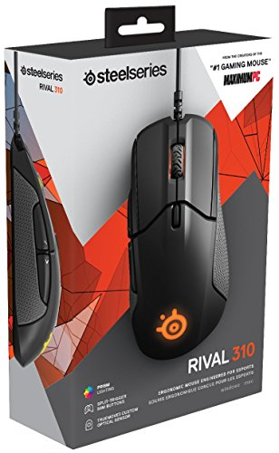SteelSeries Rival 310 Gaming Mouse - 12,000 CPI TrueMove3 Optical Sensor - Split-Trigger Buttons - RGB Lighting