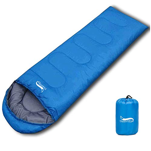 DESERT & FOX Ultralight Sleeping Bags for Adult Kids 2.2lbs Portable Lightweight 3 Season Hiking Backpacking Camping Sleeping Bag with Compression Sack