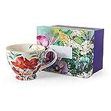 LAIDEPA Taza de café Set Belleza de pintura al óleo pintada a mano, taza de porcelana mate, tazas de avena de cerámica de gran tamaño para regalos creativos de café, A