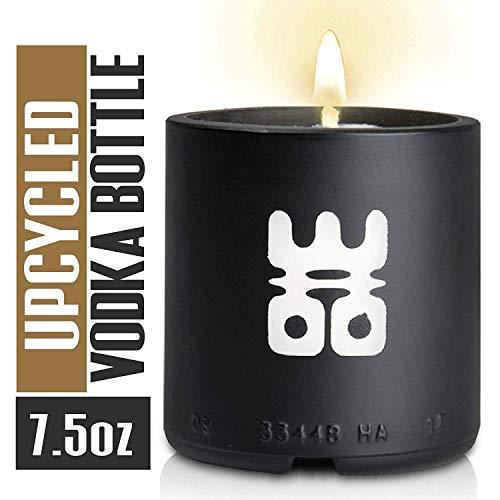 WOO Lucky Stress Relieving Tranquility Fragrance Bottiglia di Vino Riciclata Candle 25 Ore Burn