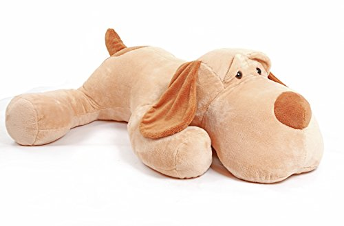 YunNasi Peluche Cane Giocattoli Cuccioli Giganti 150cm Carino Cagnolino Animale di Peluche Puppy Morbidi Regalo Fidanzata Bambino Compleanno Natale