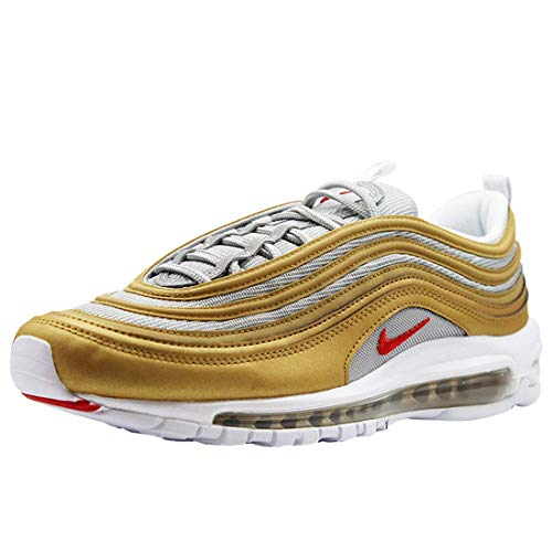 Nike Air Max 97 Gold Herren Turnschuhe - Metallic Gold, Silber, 10 UK
