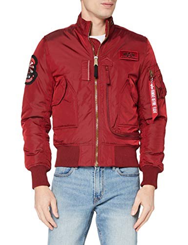 ALPHA INDUSTRIES Engine Giacca, Commander Red, S Uomo