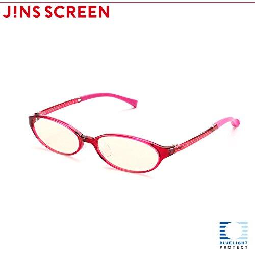 【JINS SCREEN オーバル ライトブラウンレンズ】 (WINE)