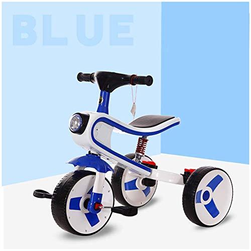 HYLH Dreirad FüR Kleinkinder, Kinder-Dreirad-Fahrrad 2-In- 1 Zusammen Mit Trike Kids Forst Dreirad Entwickelt Dreirad, Baby-Dreirad, Mit Sicherem Und Sicherem Design, Dark Blue