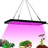 WUAZ LED Crece La Luz, Doble Chips Luz Planta con Exclusivo Full Spectrum, con Cadenita De Efecto Invernadero Verduras Plantas Desde La Siembra hasta La Cosecha