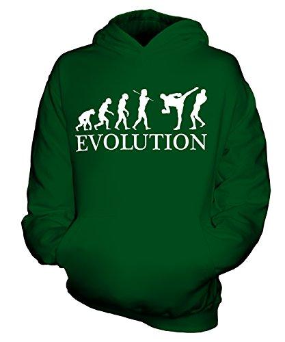 Candymix - MMA Fighter (Hombre) Evolution of Man - Sudadera unisex con capucha para niños y niñas y niños pequeños con capucha, verde oscuro, 1-2 Years
